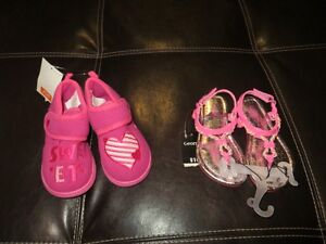 Toddler GIrls NEW Sandals Size 8 and NEW Slippers Size 8 London Ontario image 1