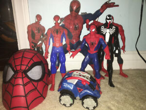 Bunch of Spider-Man toys