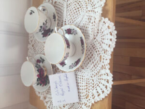 Fine China cups and saucers  $40.00 for the 3