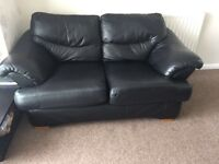 NEED GONE TODAY Two, two seater black sofas