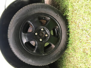 Honda rims and new tires