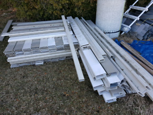 Vinyl fence boards and framing