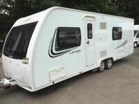 ☆ 2013/14 LUNAR LEXON TWIN AXLE ☆ 4 BERTH TWIN SINGLE BEDS TOURING CARAVAN ☆