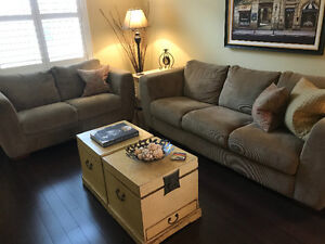 Neutral Sofa and Love Seat, like new!