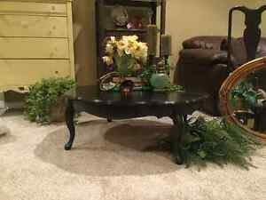 Large Round French Provincial Coffee Table