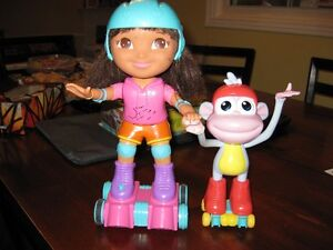 Dora and Boots skating buddies