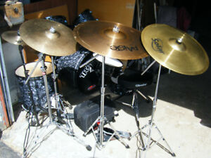 Drum kit with cymbals and Extras  $480!!!!!