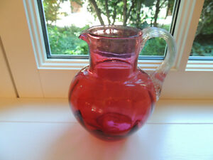 Antique Cranberry Jug - Burlington