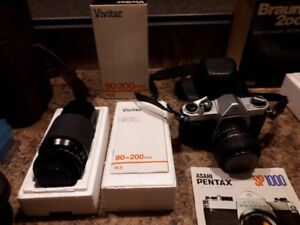 PENTEX SP 1000 35 mm Camera, Zoom lens, Flash and other items
