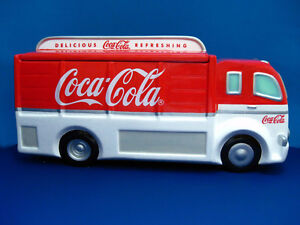 Coca-Cola DELIVERY TRUCK Ceramic  Cookie Jar - 1999