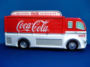 Coca-Cola DELIVERY TRUCK Ceramic  Cookie Jar - 1999