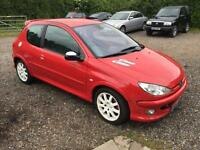 2001 Peugeot 206 2.0 GTi Red