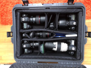 5D Mk IV, 5D Mk III, 6D x2, lots of L lenses, more. LNIB