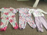 X5 pairs baby pyjamas 3-6 months