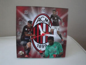 AC MILAN SQUARE CLOCK, AA BATTERY OPERATED, BRAND NEW IN BOX!