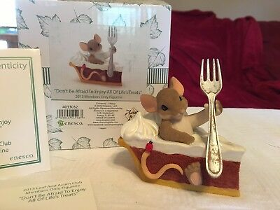 """Charming Tails """"DON'T BE AFRAID TO ENJOY ALL OF LIFES TREATS """" DEAN GRIFF NIB"""