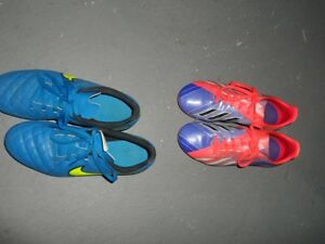 Nike Tiempo and Adidas Fiora Soccer Cleats