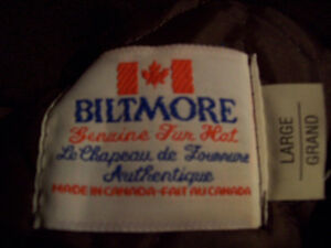 Genuine Beaver fur hat by Biltmore Canada. Size large. London Ontario image 2