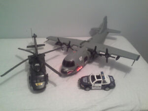 True Heroes cargo plane and attack helicopter