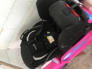 Car seat with booster