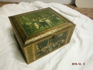 Antique Rembrandt Tin Container