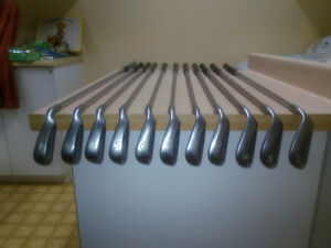 Matched set of Pine Eye 2 Green Dot Irons: Right Handed