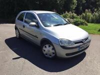 Vauxhall Corsa 1.2i Elegance cheap 3 door silver car with air con NEW MOT