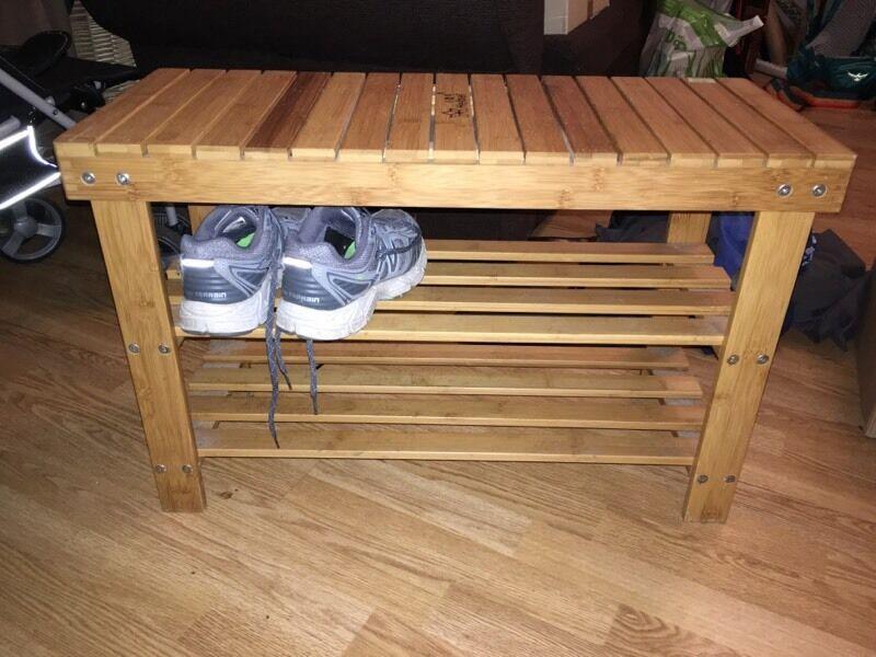 Bamboo shoe rack / bench
