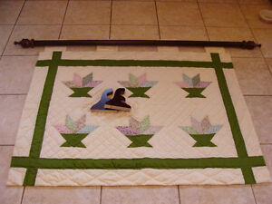 HAND-QUILTED WALL HANGING WINDOW COVER CURTAIN London Ontario image 1