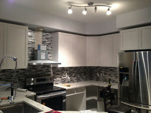 Kitchen cabinet before and after