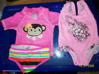 baby girfl swimming suit 9-12 months excellent condition 3 piece