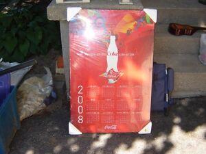 2008 BEIJING OLYMPIC COKE CALENDER/COCA COLA PLAQUE