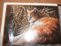 Counted Cross Stitch - Cat - A Place in the Sun - Dimensions