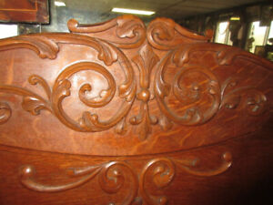 Wonderful Antique (c1910) Double Bed - Fabulous Wood Carvings