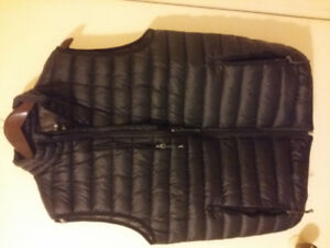 unisex quilted puffer sport vest - black