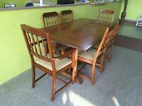 Extendable Dining Table With 6 Chairs - Can Deliver For £19