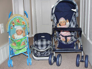 2 Doll Strollers & Dolls- Small $20 - Large $25 Regina Regina Area image 1