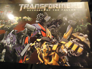 GIANT Transformers plaque poster! (see photos)