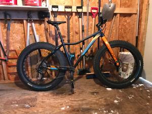 Vélo Fat Bike De Vinci Minus RS noir/or/bleu 2017 cadre Large