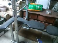 Life Gear Weight Bench and York barbell set