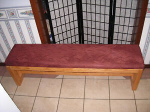 Slightly used long Heavy duty Hallway Bench,solid wood frame