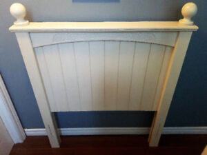 Cream White Twin Size Headboard