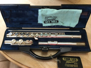 Silver-plated Buffet Crampon flute made in England