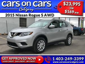 2015 Nissan Rogue AWD w/DVD, BackUp Cam, USB Connect $219 B/W IN