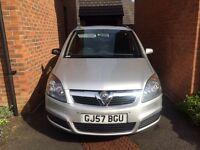 Vauxhall Zafira 1.6 petrol very low mileage one year mot