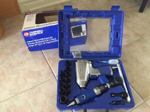 Kit avec impact et ratchet pneumatique (clé à chocs)