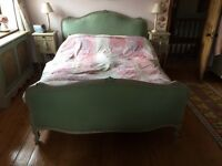 Antique French Period Style King size bed with 2 bedside cabinets
