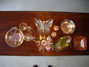ANTIQUE/VINTAGE CARNIVAL GLASS COLLECTION - ENTIRE LOT FOR $100