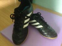 Nearly new Adidas Astro football boots. U.K. Size 2