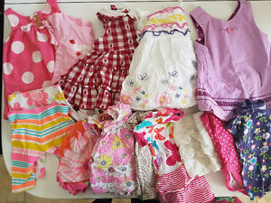 Box of 0-6 month girl clothes 40 pieces